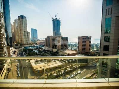 فلیٹ 1 غرفة نوم للايجار في دبي مارينا، دبي - Bright and Spacious 1 bedroom with sea views