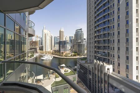 شقة 1 غرفة نوم للايجار في دبي مارينا، دبي - Partial Marina views from this furnished one bedro
