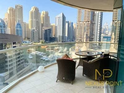 فلیٹ 3 غرف نوم للايجار في دبي مارينا، دبي - Amazing Partial Marina View & Sea View 3 BR