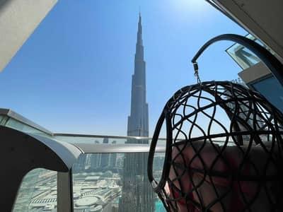 3 Bedroom Flat for Rent in Downtown Dubai, Dubai - Stunning View of Burj Khalifa   High Floor