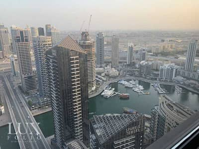 فلیٹ 2 غرفة نوم للايجار في جميرا بيتش ريزيدنس، دبي - Stunning Marina Views   Spacious   Unfurnished