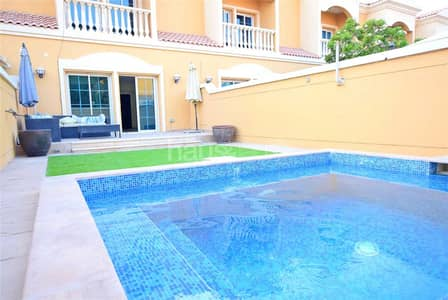 2 Bedroom Townhouse for Sale in Jumeirah Village Triangle (JVT), Dubai - Upgraded 2 Bed Villa | Away from Cables | Pool