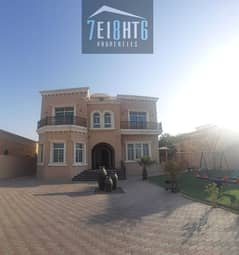 Amazing value: 5 b/r independent villa + maids room + large garden for rent in Khawaneej 1