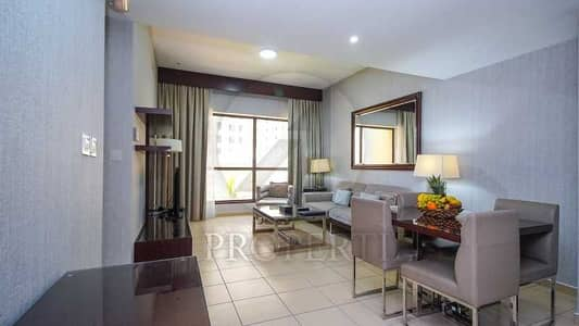 1 Bedroom Hotel Apartment for Rent in Jumeirah Beach Residence (JBR), Dubai - Furnished 1BR Hotel Apartment | All Bills Included