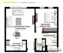 1 Bedroom Apartment Type B