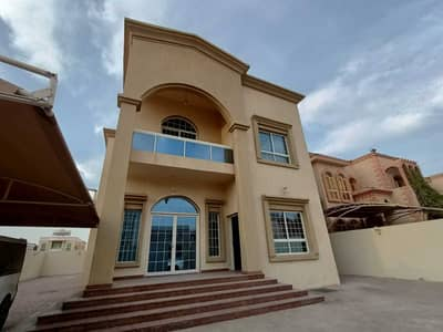 A luxury villa for rent in a distinctive residential area in the emirate of Ajman, Al Rawda 3 area, excellent finishes
