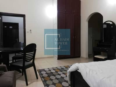 Studio for Rent in Khalifa City A, Abu Dhabi - Fully furnished studio for rent, large area, excellent ventilation, regular kitchen, bathroom, bathtub, parking, the con