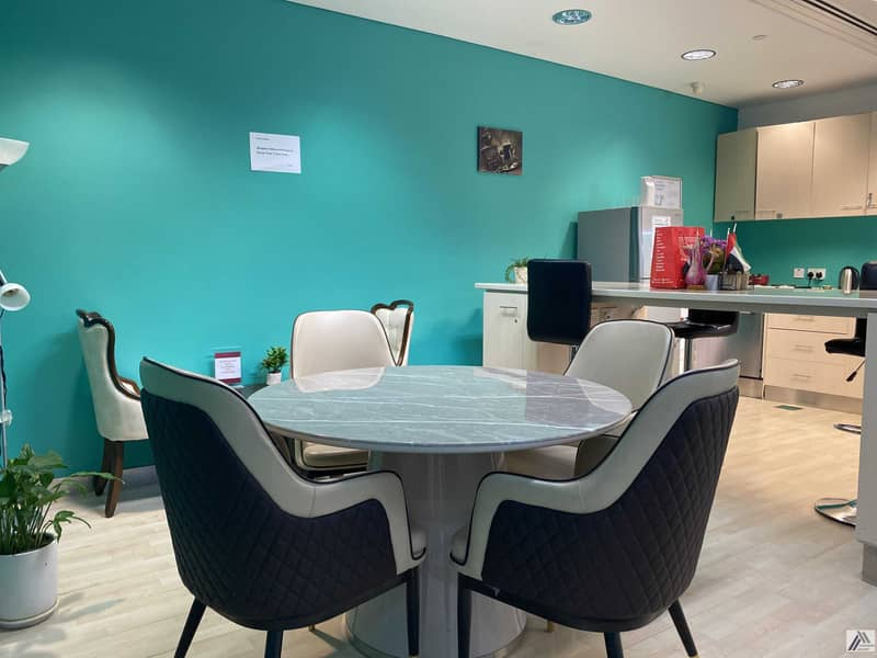 2 Fully Furnished Serviced office |One payment |Chiller Free| Close to Metro and Mall