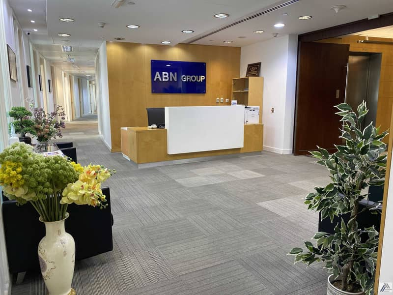 Fully Furnished Serviced office |One payment |Chiller Free| Close to Metro and Mall