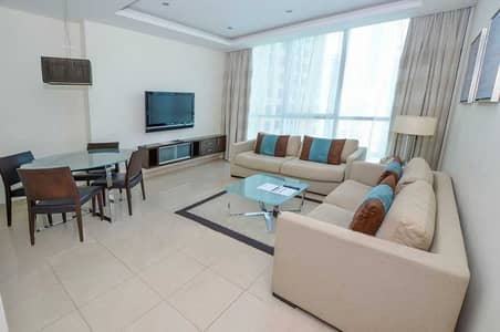 1 Bedroom Flat for Rent in Jumeirah Lake Towers (JLT), Dubai - Furnished|Higher Floor|Lake view|Near Metro. .