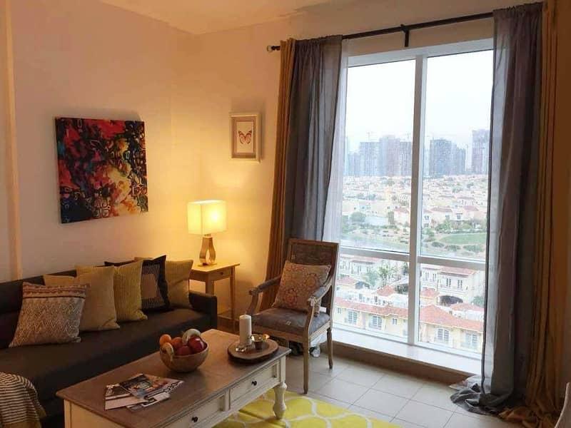 Large Studio   Balcony   Tennis Tower   Dubai Sports City