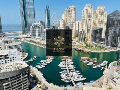 شقة 3 غرف نوم للايجار في دبي مارينا، دبي - Biggest 3bhk with 5 balconies  sea view