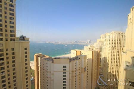 2 Bedroom Apartment for Sale in Jumeirah Beach Residence (JBR), Dubai - 2 Bedrooms   Full Sea Views   Upgraded