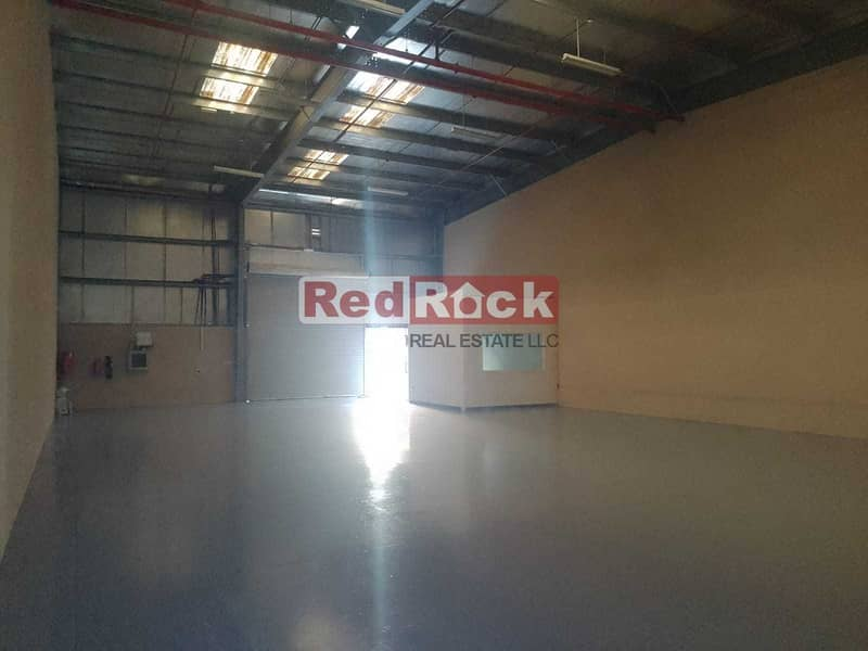 13 2 Months Rent Free 3000 Sqft Warehouse with Office in Jebel Ali