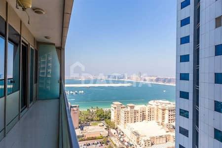 شقة 1 غرفة نوم للايجار في دبي مارينا، دبي - Palm / Sea Views / Mid Floor / Unfurnished!