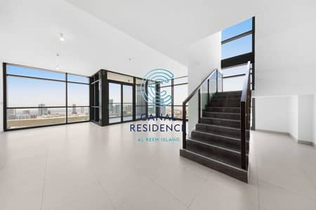 3 Bedroom Flat for Rent in Al Reem Island, Abu Dhabi - Rare Duplex apartments with full Canal View