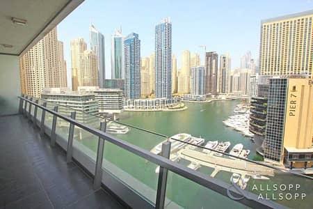 شقة 2 غرفة نوم للايجار في دبي مارينا، دبي - Silverene l Full Marina View l Large Balcony