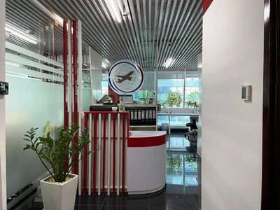 Office for Rent in Al Manara, Dubai - Fully Furnished 2 parking high floor 1099.10 SqFt