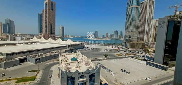 3 Bedroom Flat for Rent in Al Taawun, Sharjah - Sea View 3BHK | 45 Days Free | Gym+Pool | 6Chqs