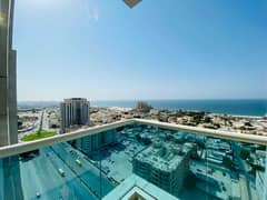 2 bhk closed kitchen  sea view with parking for sale in Ajman one tower