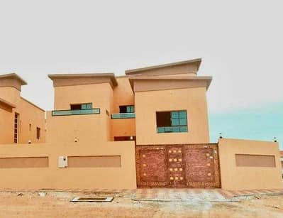 6 Bedroom Villa for Rent in Al Mowaihat, Ajman - Villa for rent in Ajman Al Mowaihat    European design   personal finishing   5000 sq. ft   The villa has 6 rooms, a board, a hall, monsters, and air