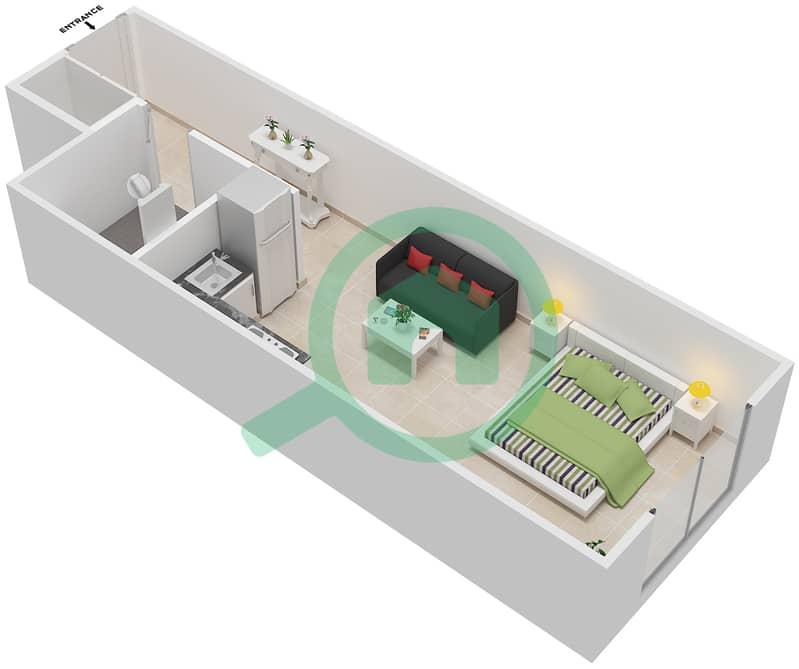 المخططات الطابقية لتصميم الوحدة 8 شقة  - لا ريزيدينس Ground Floor interactive3D