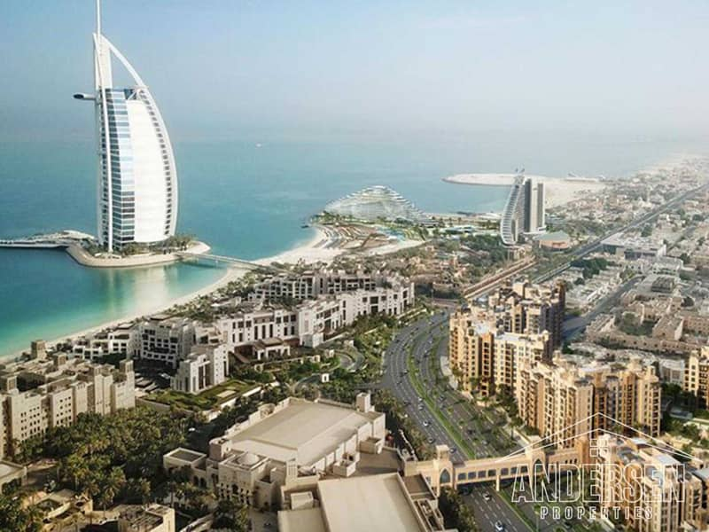 افضل سعر - اطلالة برج العرب | تخطيط كبير حديث | أفضل مكان في دبي