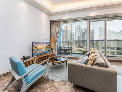 1 Bedroom Flat for Rent in Dubai Marina, Dubai - Serviced Fully Furnished Apartment With City View