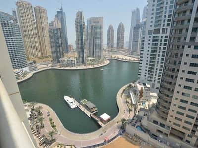 1 Bedroom Flat for Rent in Dubai Marina, Dubai - Furnished I Partial Marina View I 2 Bathroom