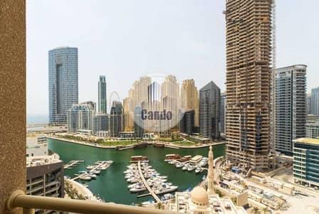 فلیٹ 1 غرفة نوم للايجار في دبي مارينا، دبي - FULLY FURNISHED   FULL SEA View   Chiller Free