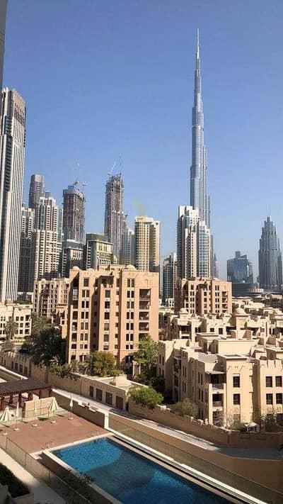 شقة 1 غرفة نوم للايجار في وسط مدينة دبي، دبي - Pool and Burj Khalifa Views | Brand New 1BR | Closed Kitchen