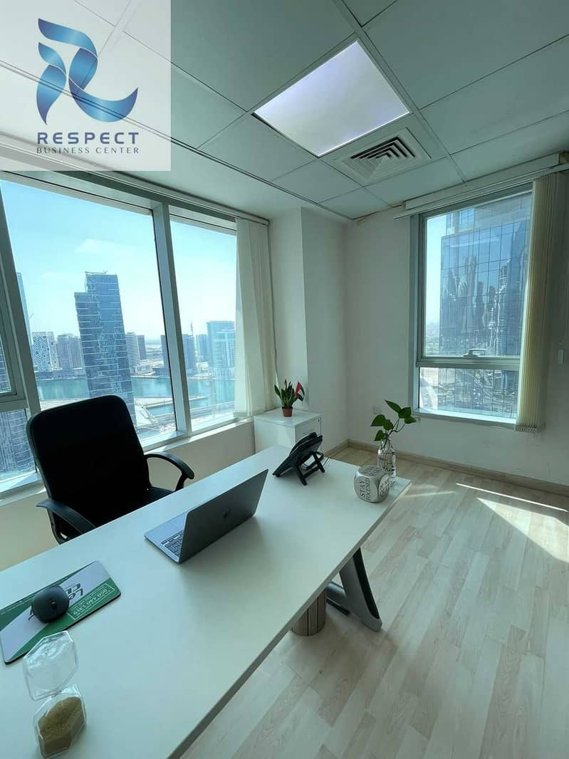 OFFICE WITH CANAL VIEW@FREE UTILITIES-FULLY FURNISHED