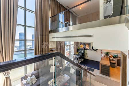 1 Bedroom Apartment for Rent in Business Bay, Dubai - The Only Duplex Available with Canal View