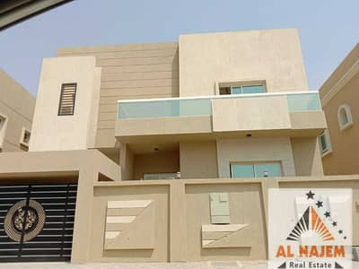 5 Bedroom Villa for Sale in Al Yasmeen, Ajman - For sale, a modern villa on the main street in the Jasmine area in Ajman, with the possibility of bank financing, cash or housing