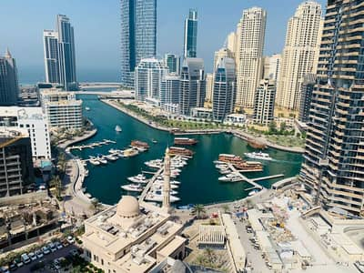 1 Bedroom Apartment for Rent in Dubai Marina, Dubai - Marina View 1 Bedroom Higher Floor Vacant Chiller Free
