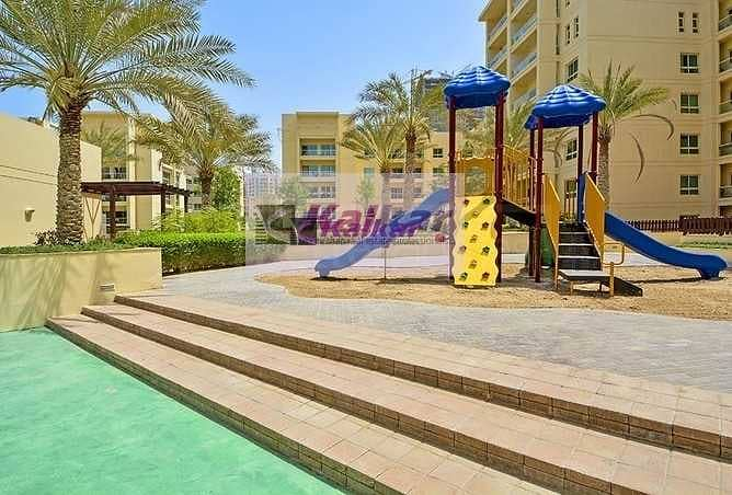 Greens  -  Al Samar, Large 1 Bedroom , Chiller Free,  Pool View Clean & Neat - well maintained