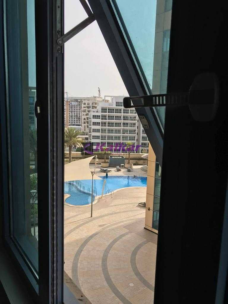 Good investment @  DSO - Spacious studio with pool view  rented @ AED. 24 K Till Nov 2021 for SALE  @ AED. 300 K