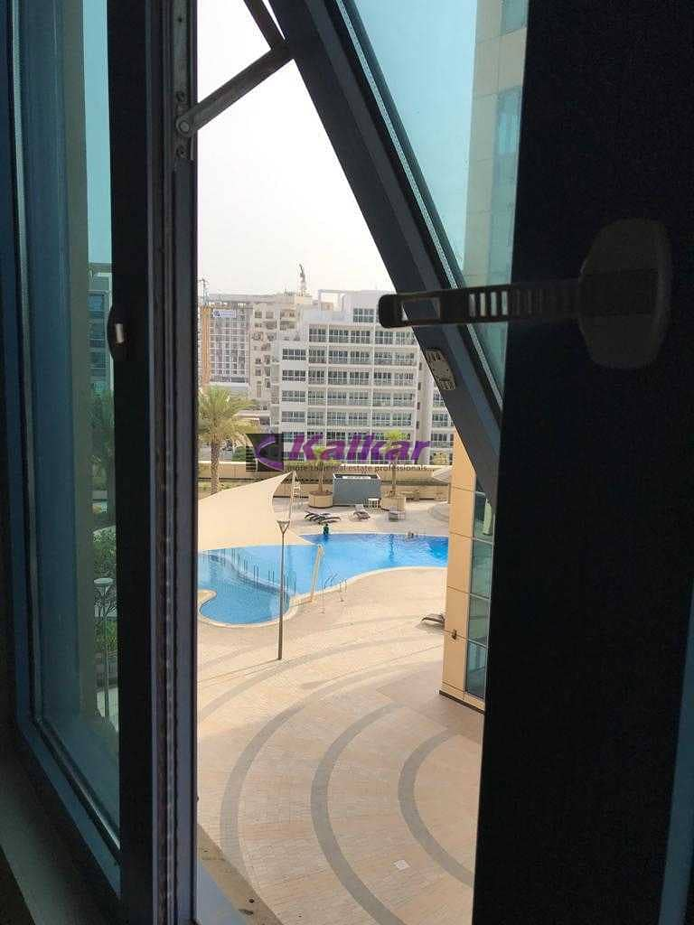 8 Good investment @  DSO - Spacious studio with pool view  rented @ AED. 24 K Till Nov 2021 for SALE  @ AED. 300 K