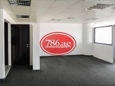 مکتب  للايجار في واحة دبي للسيليكون، دبي - مكتب بالدور السفلي به 3 أقسام زجاجية + غرفة مفتوحة واحدة