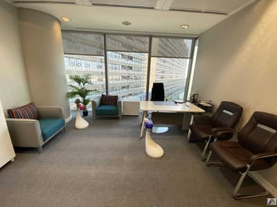 Office for Rent in Bur Dubai, Dubai - Fully Furnished Executive Office / Sea and Cityscape Linked with Mall Metro