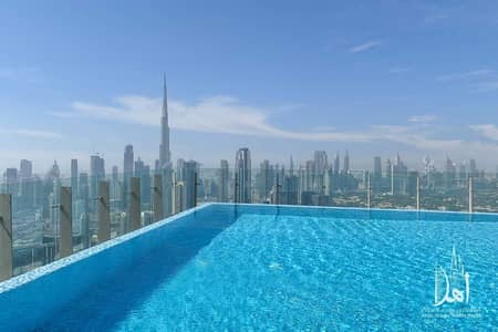 1 Bedroom Flat for Rent in Business Bay, Dubai - BURJ KHALIFA VIEW | SOLID  1BR DUPLEX | SLS HOTEL AND RESIDENCES