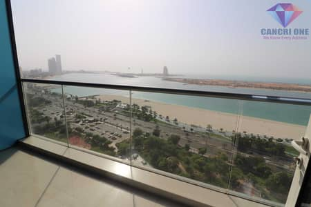 3 Bedroom Apartment for Rent in Corniche Area, Abu Dhabi - Glamorous sea view | Huge balcony + maid\'s room
