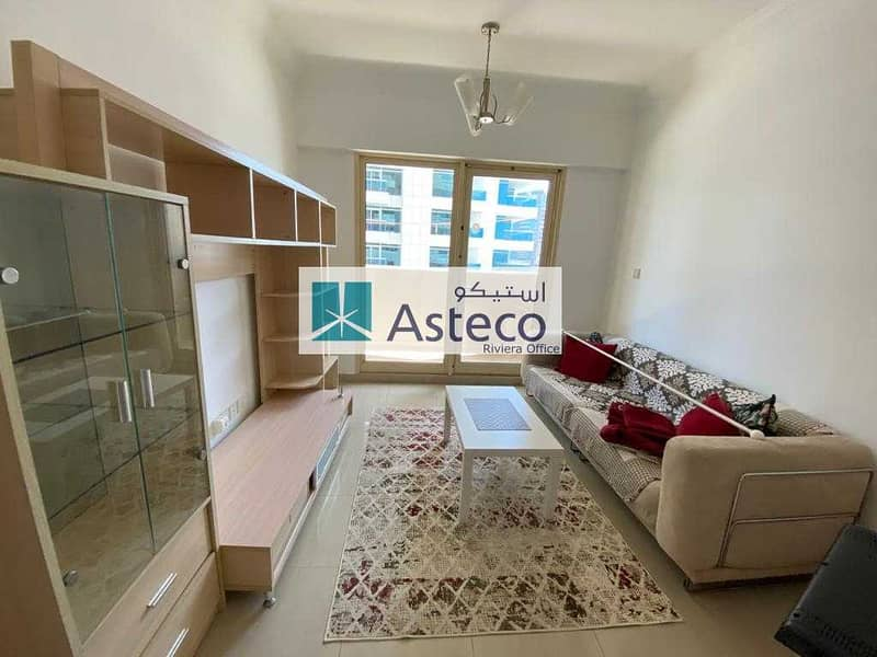Furnished 1BHK with Marina View| Chiller free