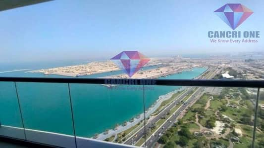 3 Bedroom Apartment for Rent in Corniche Area, Abu Dhabi - New style close kitchen with sea view with facilities