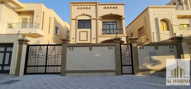 5 Bedroom Villa for Sale in Al Mowaihat, Ajman - For lovers of luxury, splendor and distinction, a fictional villa with specifications and decorations, a swimming pool f