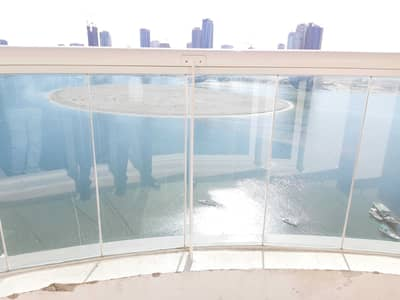 3 Bedroom Apartment for Rent in Al Khan, Sharjah - Sea View Spacious 3BR Apartment No Deposit with HC and Parking