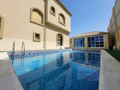 5 Bedroom Villa for Sale in Al Mowaihat, Ajman - Villa for sale with swimming pool, villa with electricity, water and air conditioners, super deluxe
