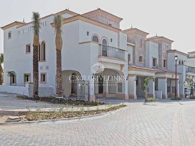 4 Bedroom Townhouse for Sale in Jumeirah Golf Estates, Dubai - 4BR townhouse - corner plot with golf views