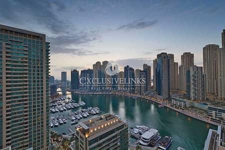 شقة 1 غرفة نوم للبيع في دبي مارينا، دبي - Upgraded | Full Marina View | Study | Furnished