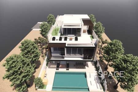 ارض سكنية  للبيع في نخلة جميرا، دبي - Skyline View   Garden Home Plot   Direct Beach Access